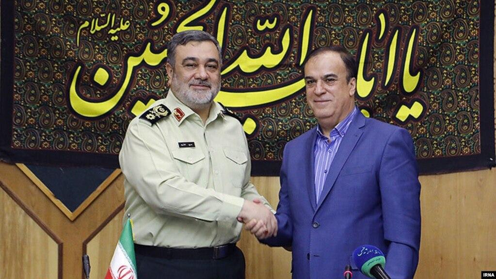 حسین اشتری، فرمانده پلیس ایران و حسن معروف، فرمانده پلیس سوریه