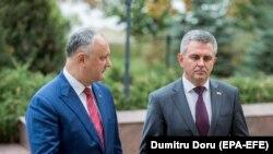 Igor Dodon și Vadim Krasnoselski, 29 octombrie 2019