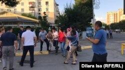 Задержания на площади аль-Фараби в Шымкенте. 6 июля 2019 года.