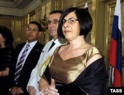 Анна Азари во время работы послом Израиля в России (архивное фото)