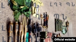 Nagorno Karabakh - Weapons and ammunition allegedly seized from Azerbaijani commando units, 2Aug2014
