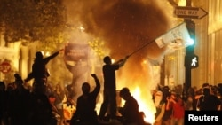 """Беспорядки во время деммонстрации движения """"Захвати Окленд"""" в Окленде (штат Калифорния) 3 ноября"""