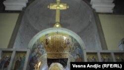 Patrijarh Irinej drži službu u crkvi sv. Marka