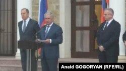 На відкритті російського «посольства» в Абхазії, Сухумі, 18 квітня 2017