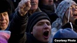 Ресей жастары Путинге қарсы шеруде. Мәскеу, 5 ақпан 2012 жыл.
