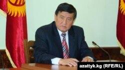 Қырғызстан премьері қызметіне ұсынылған Сооронбай Жээнбеков.