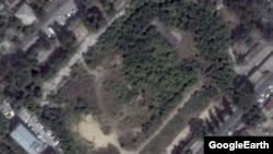 Terenul stadionului demolat, văzut pe GoogleEarth