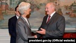 Аляксандар Лукашэнка сустракаецца з прадстаўнікамі МВФ (архіўнае фота)