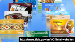Türkmenistanyň banklary tarapyndan berilýän bank kartlary