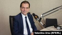 Ludovic Orban în studioul Europei Libere la Chișinău