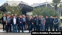 Добровольцы из Абхазии, отправившиеся в Нагорно-Карабахскую Республику