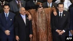 Tunis, Yəmən, Liviya və Misirin keçmiş liderləri - 2010