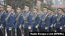 Kosovo - Kosovo Security Forces and Kosovo Police get ready for a parade, marking the fifth anniversary of Kosovo's independence. 17Feb2013