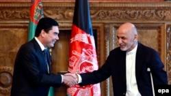 Türkmenistanyň prezidenti Gurbanguly Berdimuhamedow we Owganystanyň prezidenti Aşraf Gani