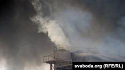 Пажар на «Пінскдрэве» летась у кастрычніку