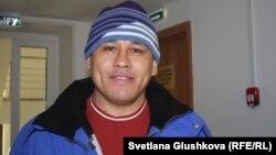 Айдын Егеубаев, азаматтық белсенді. Астана, 20 ақпан 2017 жыл.