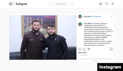 Магомед Даудов поздравляет Хамзата Кадырова