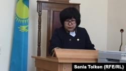 Судья Актауского городского суда № 2 Акмарал Ахметова. 9 апреля 2018 года.