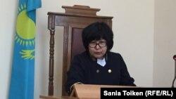 Ақтау қалалық №2 сотының судьясы Ақмарал Ахметова. 9 сәуір 2018 жыл