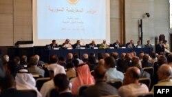 جانب من وقائع مؤتمر المعارضة السورية في القاهرة