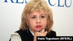 """Президент общественной организации """"Улагатты жануя"""" Марианна Гурина. Алматы, 10 января 2012 года."""