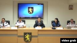 La conferința de presă de la IGP Chișinău