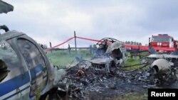 Место крушения самолета АН-24