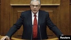 Greece's Prime Minister Lucas Papademos