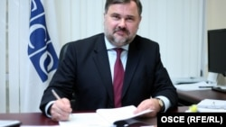 Azerbaijan's move to close the OSCE office comes just days after the contract of the organization's project coordinator in Baku, Alexis Chahtahtinsky (pictured), expired.