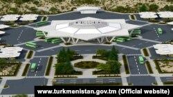 Türkmenistanyň welaýat merkezlerinde guruljak awtowokzallaryň taslamasy