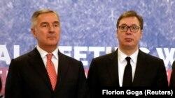 Predsednik Crne Gore Milo Đukanović i Srbije Aleksandar Vučić, susret u Tirani, decembar 2019.