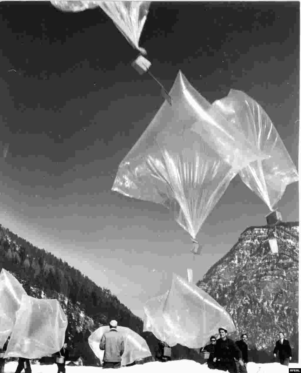 From 1953 to 1956 RFE floated balloons from West Germany filled with news reports over the Iron Curtain.