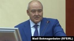 Өмірзақ Шөкеев, ауыл шаруашылығы министрі. Астана, 28 мамыр 2018 жыл.