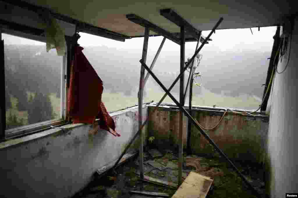 The judges' room at the ski jump site