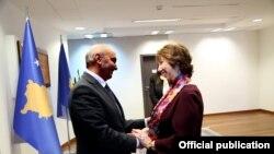 Isa Mustafa dhe Baronesha Catherine Ashton