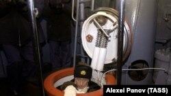 Президент России Владимир Путин на военных учениях (архивное фото).