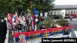 Litije u znak protesta zbog usvajanja Zakona o slobodi vjeroispovjesti, Tivat 25 juna 2020.