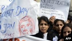 په هند کې د طب پوهنځي پر محصلې ډله ییز جنسي تېري پر ضد شدیدې مظاهرې شوې وې