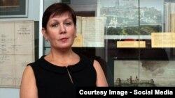 Директор Бібліотеки української літератури у Москві Наталія Шаріна