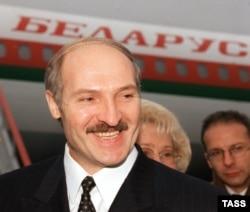 """President Alyaksandr Lukashenka -- """"Europe's last dictator"""" -- in 1999"""