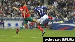 Франция мен Беларусь құрамалары арасындағы ойын. 3 қыркүйек 2010 жыл. (Көрнекі сурет)