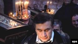 Михаил Саакашвили Гелати чиркәвендә