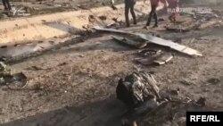 Уламки українського пасажирського літака, що зазнав катастрофи в Ірані