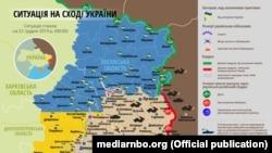 Ситуація в зоні бойових дій на Донбасі 22 грудня – карта