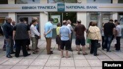 Черга до банкоматів у Греції, 27 червня 2015 року