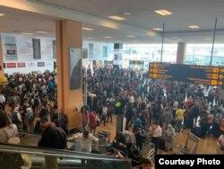 Аэрапорт Лімы 16 сакавіка - у апошні дзень, калі працуе авіязлучэньне