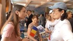 Флаги ЕС и Румынии в Тирасполе