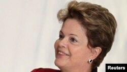 Бразилия президенті Дилма Русеф. Бразилия, 23 сәуір 2013 жыл.