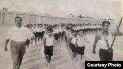 استعراض لطلبة المدارس في الفلوجة 1956