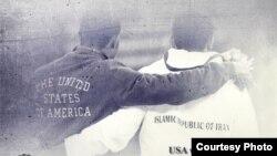 بخشی از پوستر مسابقات کشتی در آمریکا